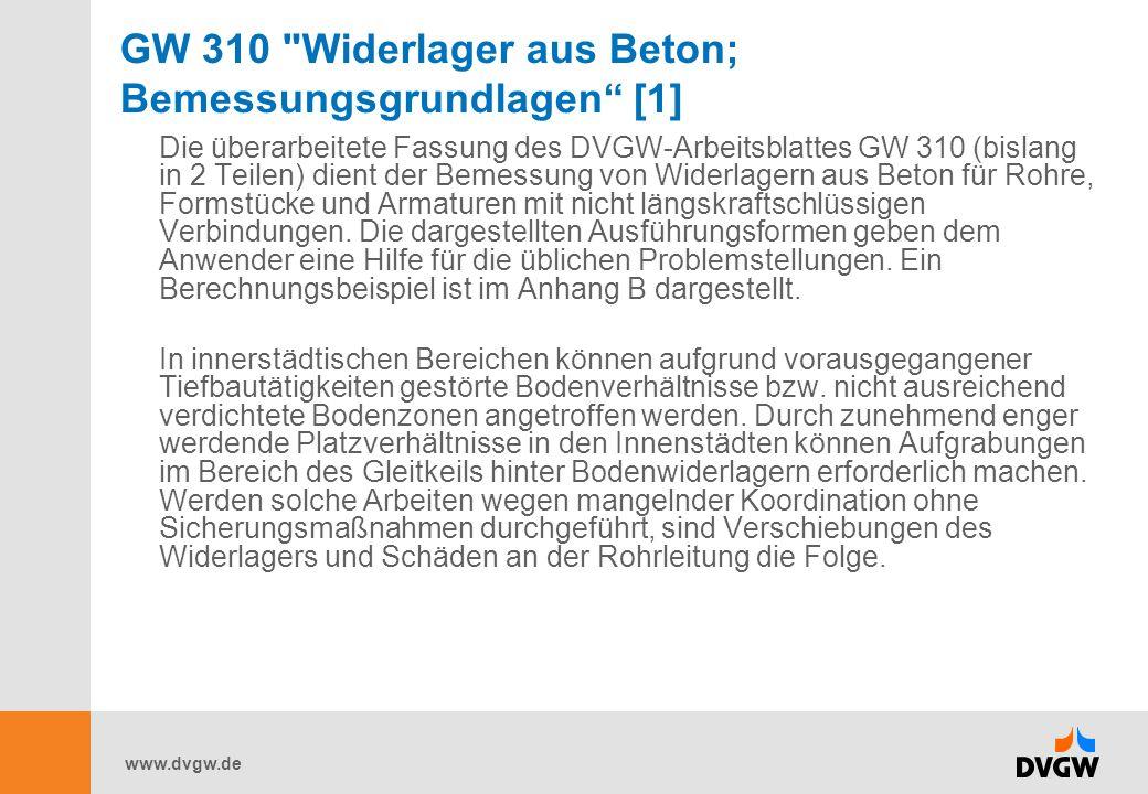 GW 310 Widerlager aus Beton; Bemessungsgrundlagen [1]